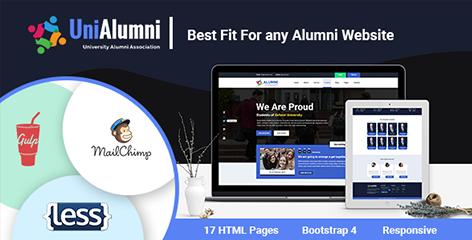 UniAlumni - University Alumni Html Template